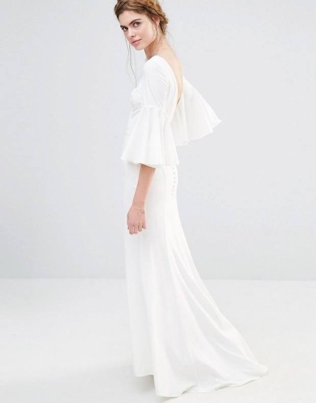 Vestido largo de novia con manga acampanada de Jarlo 126,99 € 2