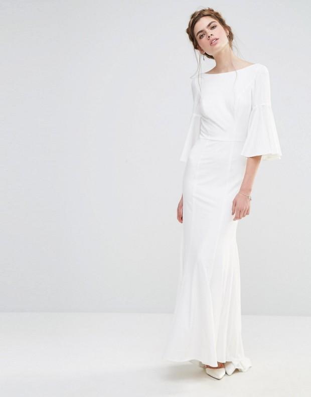 Vestido largo de novia con manga acampanada de Jarlo 126,99 €